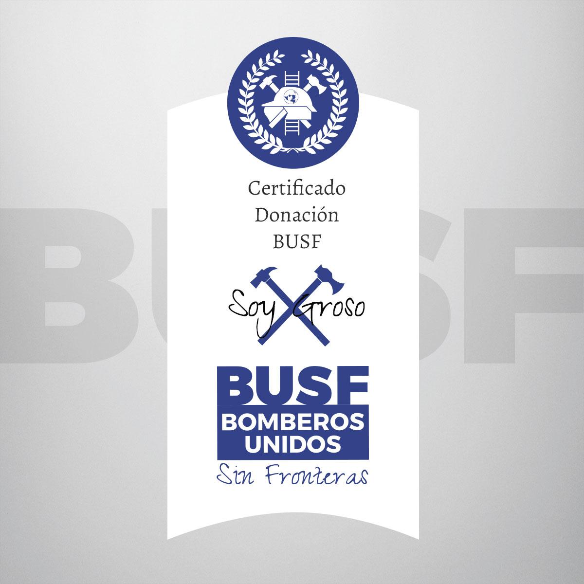 Certificado Donación BUSF