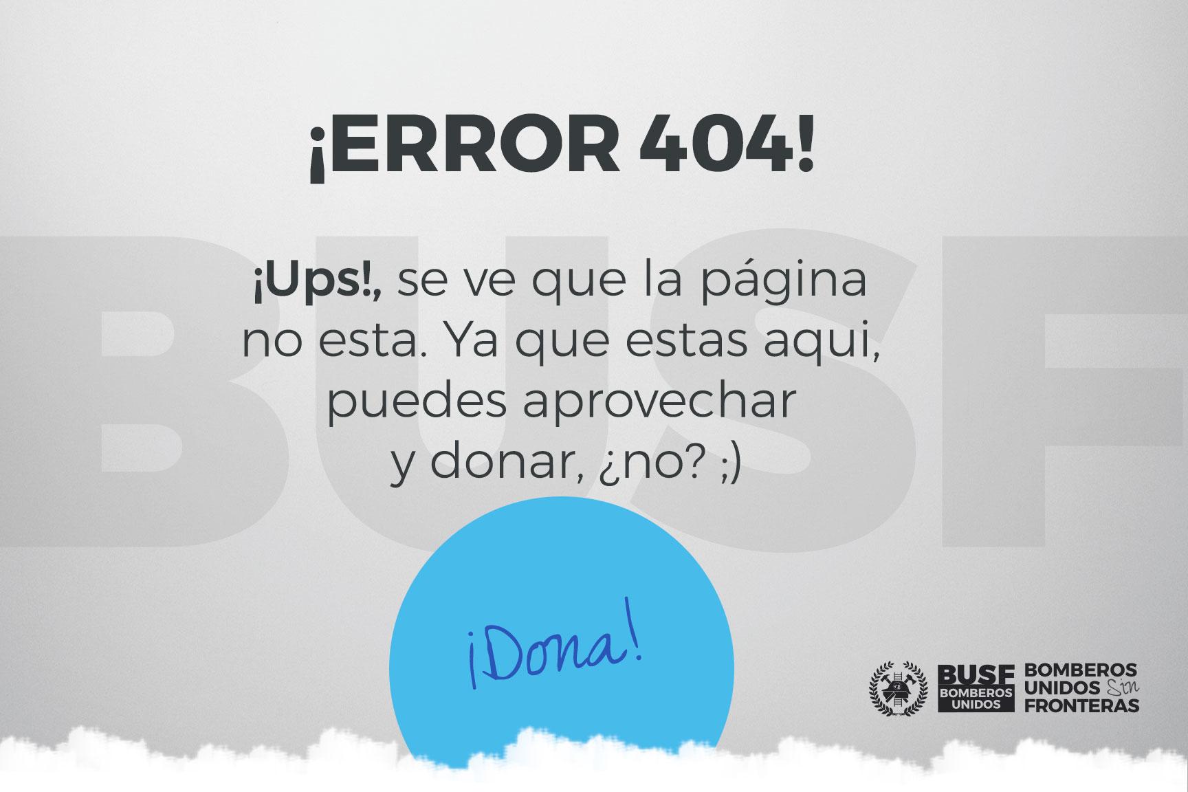Error 404 - Busf no lo encuentra