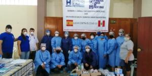 Gracias a la Diputación de Huelva, BUSF hemos podido continuar con la campaña de apoyo al COVID-19 en Loreto (Perú)